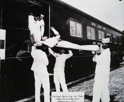 Loading patients into hospital car