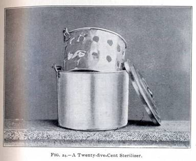 Homemade sterilizer
