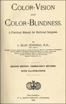Title page of Color Vision and Color Blindness by J. Ellis Jennings, MD, 1905