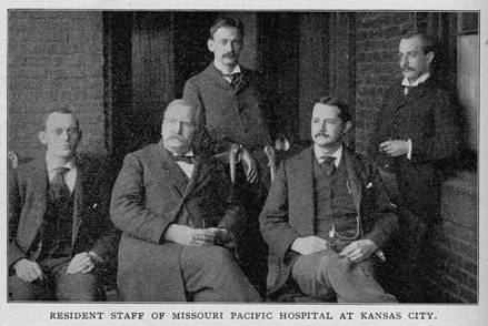 Residents at Missouri Pacific Hospital, 1896